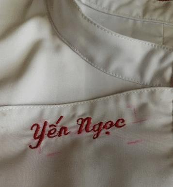 thêu tên trên áo